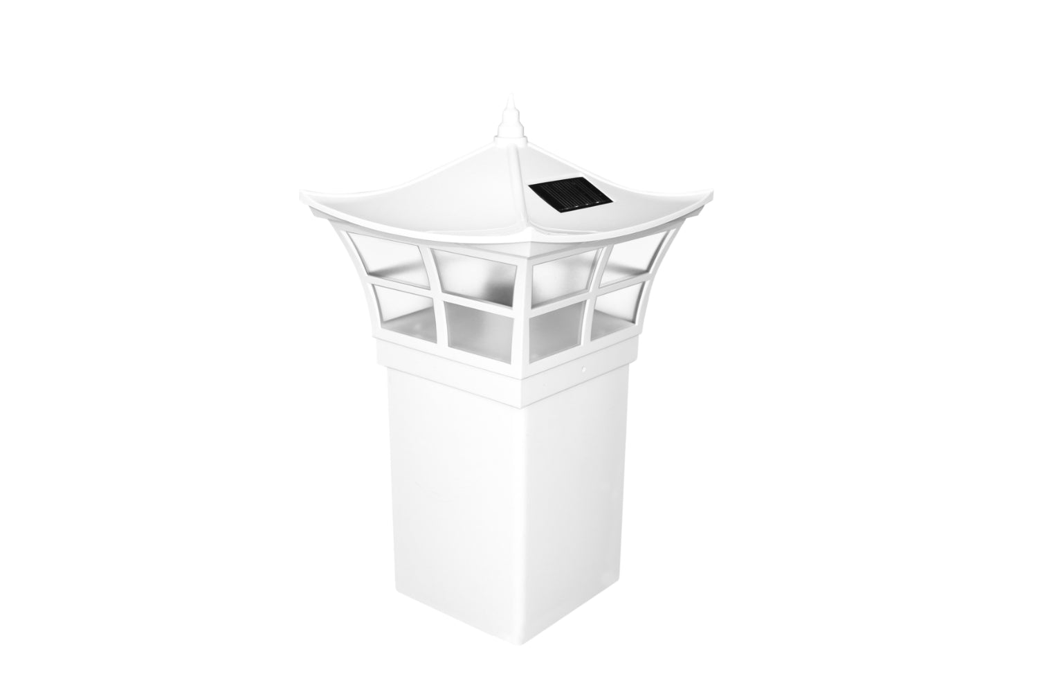 WHITE PVC AMBIENCE SOLAR POST CAP