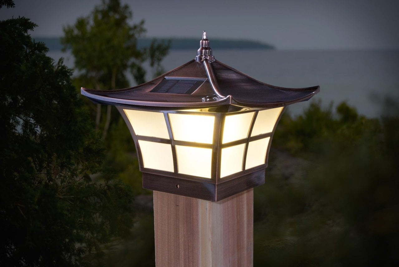 COPPER PLATED AMBIENCE SOLAR POST CAP