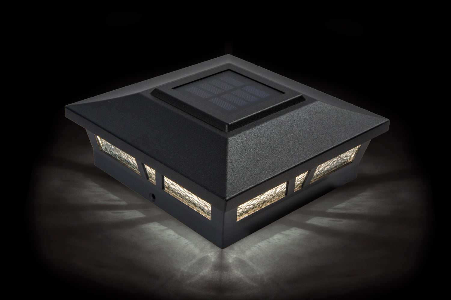 6x6 BLACK ALUMINUM OXFORD SOLAR POST CAP