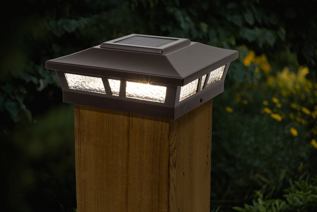 6x6 BROWN ALUMINUM OXFORD SOLAR POST CAP