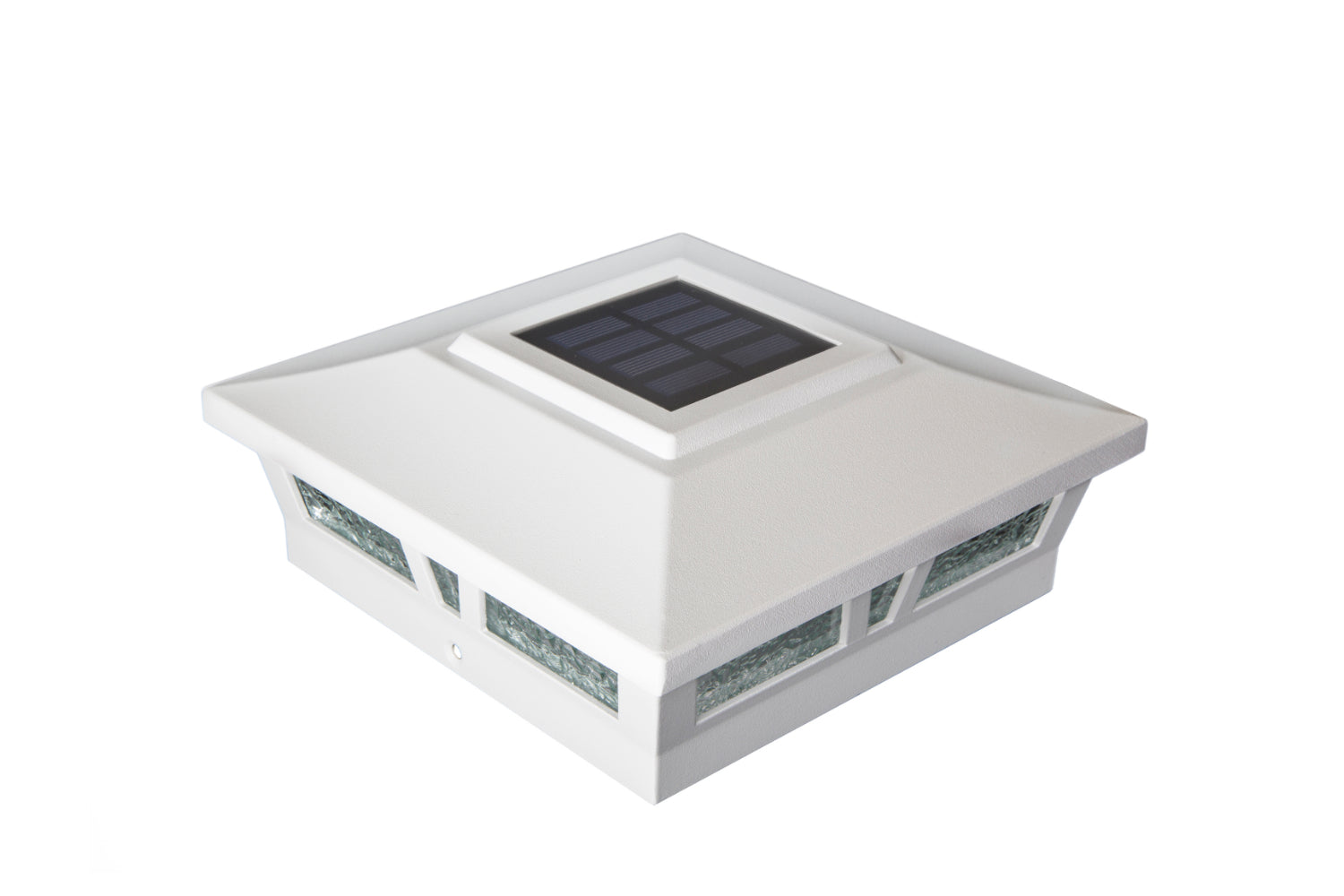 WHITE ALUMINUM OXFORD SOLAR POST CAP