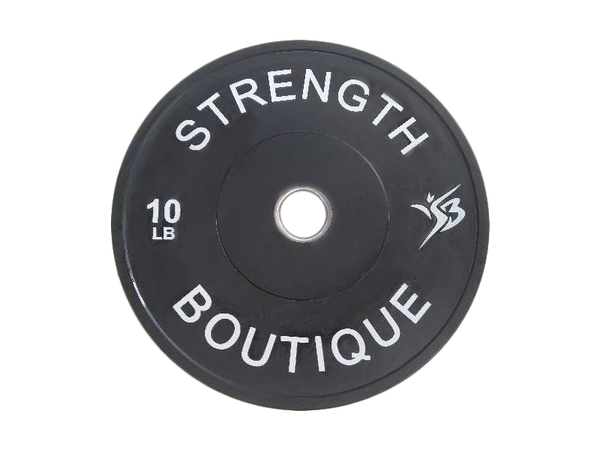 340 lbs Set Rubber Bumper Plate - Black