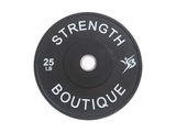 230 lbs Set Rubber Bumper Plate - Black