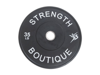 35 lbs Rubber Bumper Plates - Black - Sold Individually
