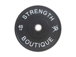 45 lbs Rubber Bumper Plate - Black - Sold individually