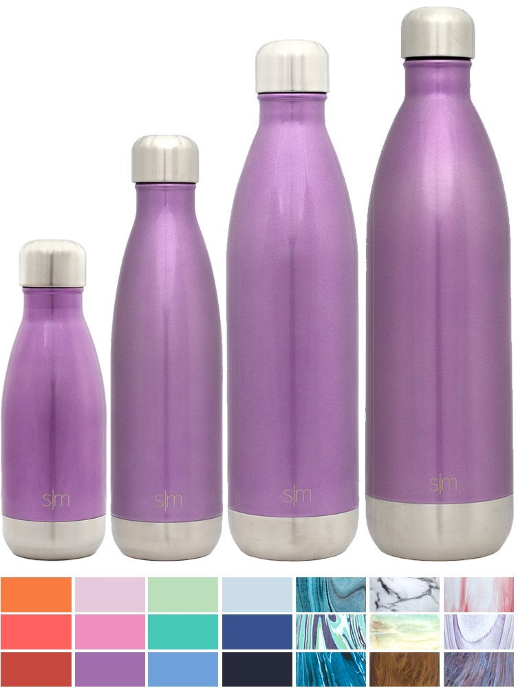 4413cfb18c 25 oz Wave Water Bottle - Stainless Steel Hydro Swell Flask - Wide Mouth Double  Wall