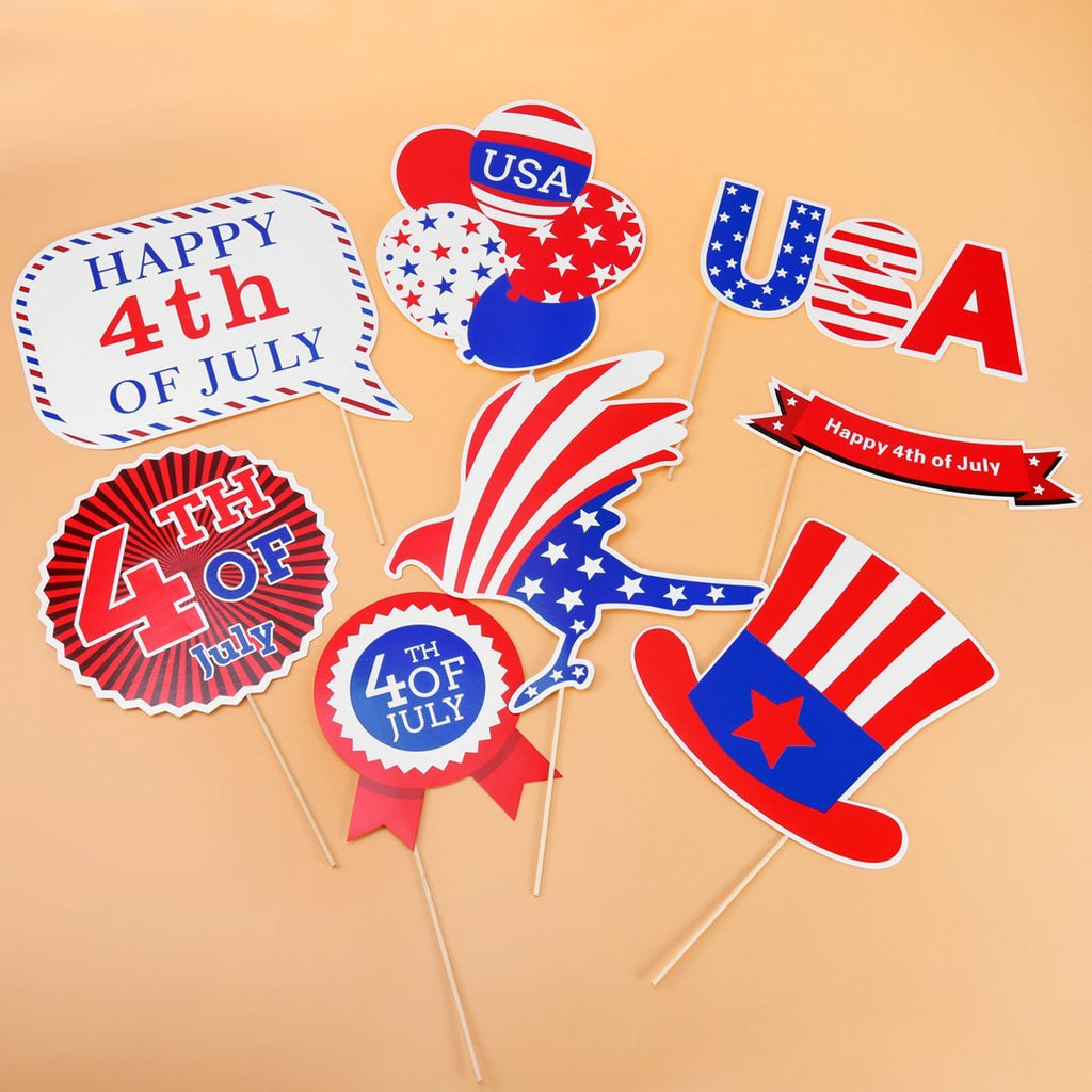 4th Of July Photo Booth Props Patriotic Party Props American