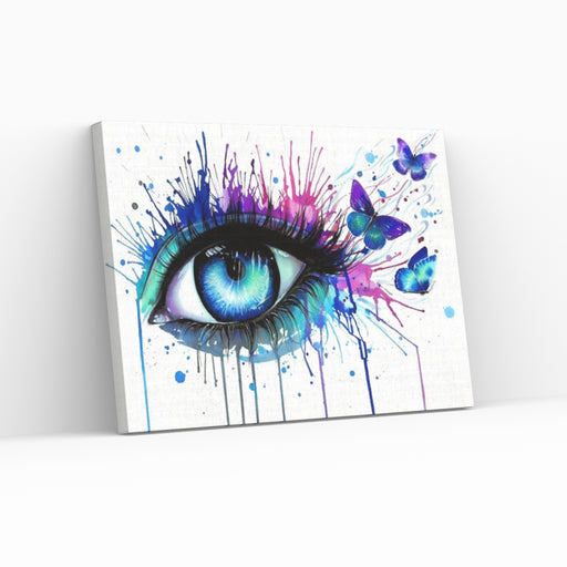 BUTTERFLY EYES - Paint by numbers med hurtig levering