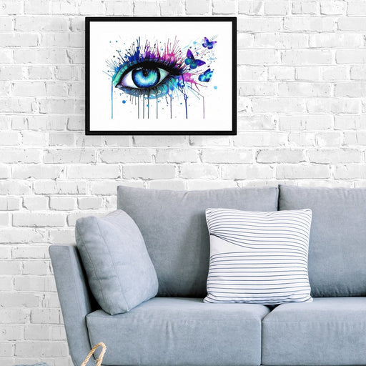 BUTTERFLY EYE - Paint by numbers med hurtig levering