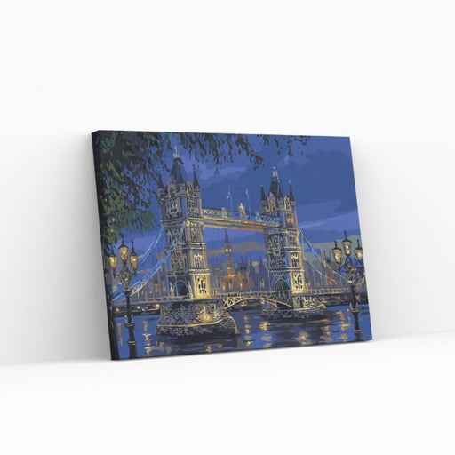 TOWER BRIDGE PAINT BY NUMBERS DANMARKUFORGLEMMELIG AFTEN VED TOWER BRIDGE - PAINT BY NUMBERS med hurtig levering