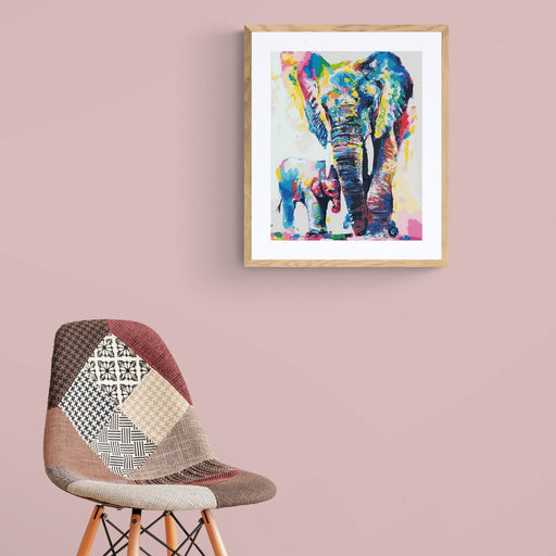 ELEFANT MOR & BARN - PAINT BY NUMBERS - DAG TIL DAG GRATIS LEVERING