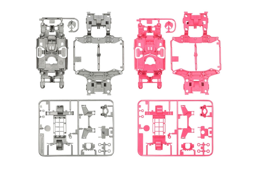 JR MS Chassis Set Silver/Pink