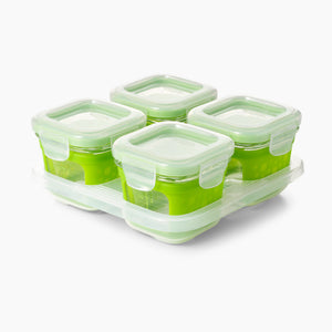 OXO Tot Glass Baby Blocks 4oz Storage Containers