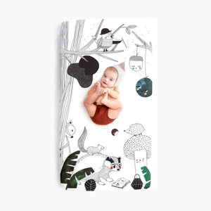 Rookie Humans Cotton Sateen Crib Sheet