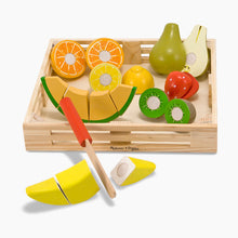 Load image into Gallery viewer, Melissa & Doug Cutting Fruit Set Wooden Play Food