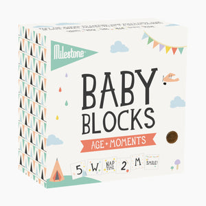 Milestone Baby Age + Moments Blocks