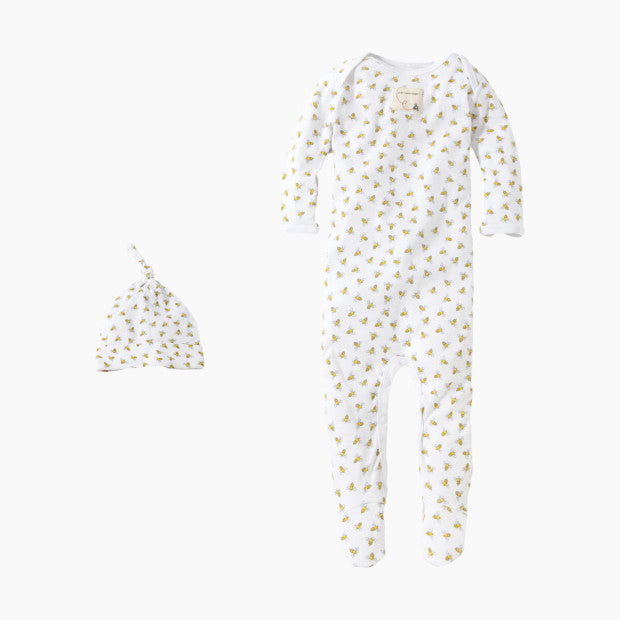 Burt's Bees Baby Organic Footed Coverall & Knot Top Hat
