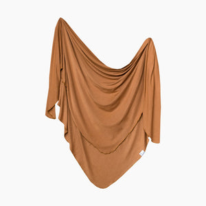 Copper Pearl Knit Swaddle Blanket