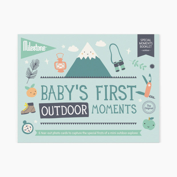 Milestone Baby's First Outdoor Photo Card Booklet