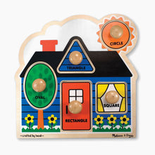 Load image into Gallery viewer, Melissa & Doug First Shapes Jumbo Knob 5 Piece Puzzle Set
