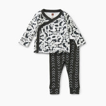 Load image into Gallery viewer, Tea Wrap Top Baby Outfit