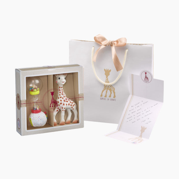 Vulli Sophiesticated Gift Set with Sophie the Giraffe Teether & Soft Maraca