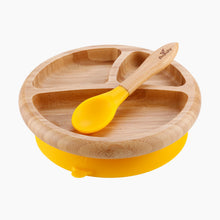 Load image into Gallery viewer, Avanchy Bamboo Suction Baby Plate + Spoon