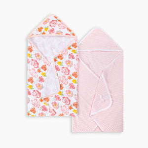 Burt's Bees Baby Organic Single-Ply Hooded Towel (2 Pack)