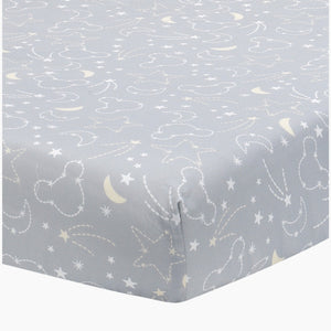Lambs & Ivy Mickey Mouse Celestial Cotton Fitted Crib Sheet