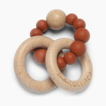 Load image into Gallery viewer, Loulou Lollipop Bubble Silicone & Wood Teething Rattle
