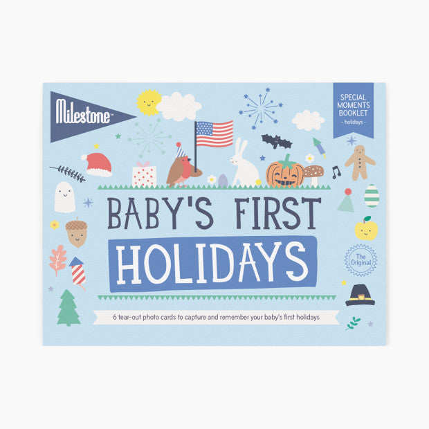 Milestone Baby's First Holidays Photo Card Booklet