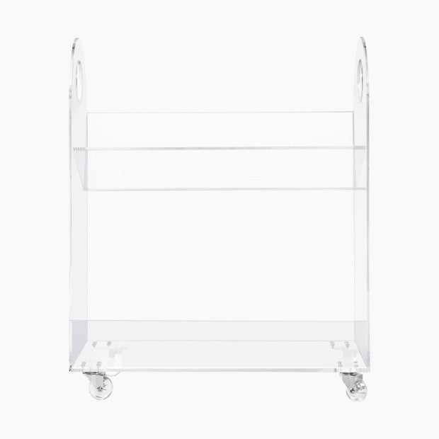babyletto Presto Acrylic Bookcase & Cart