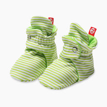 Load image into Gallery viewer, Zutano Candy Stripe Cotton Baby Booties