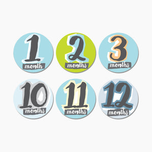 Sticky Bellies Milestone Stickers