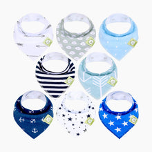 Load image into Gallery viewer, KeaBabies Organic Bandana Bibs (8 Pack)