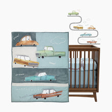 Load image into Gallery viewer, Lambs & Ivy Baby Car Tunes 4-Piece Crib Bedding Set
