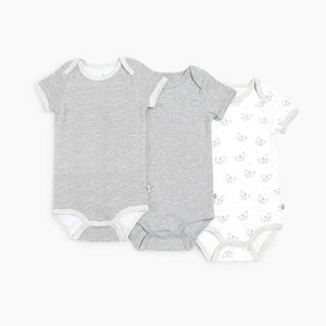 Snugabye Short Sleeve Bodysuit (3 Pack)