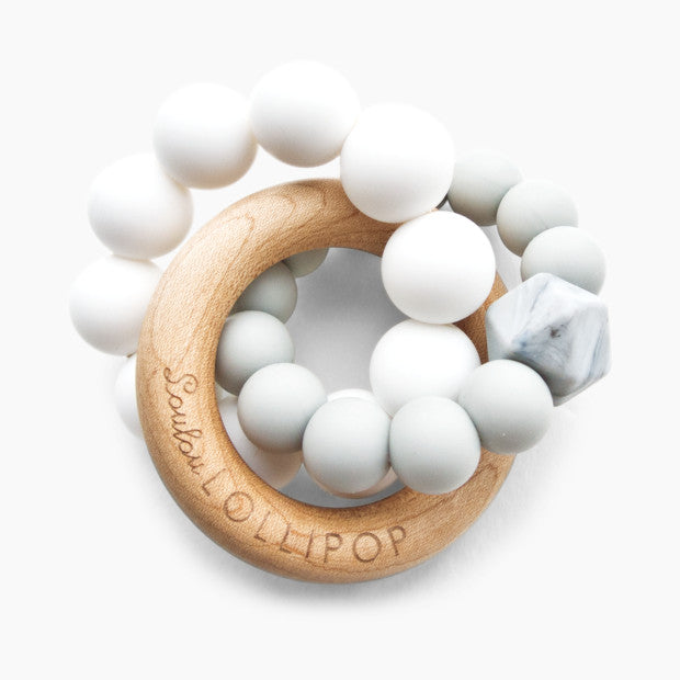 Loulou Lollipop Trinity Silicone & Wood Teether