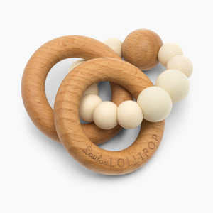 Loulou Lollipop Bubble Silicone & Wood Teething Rattle