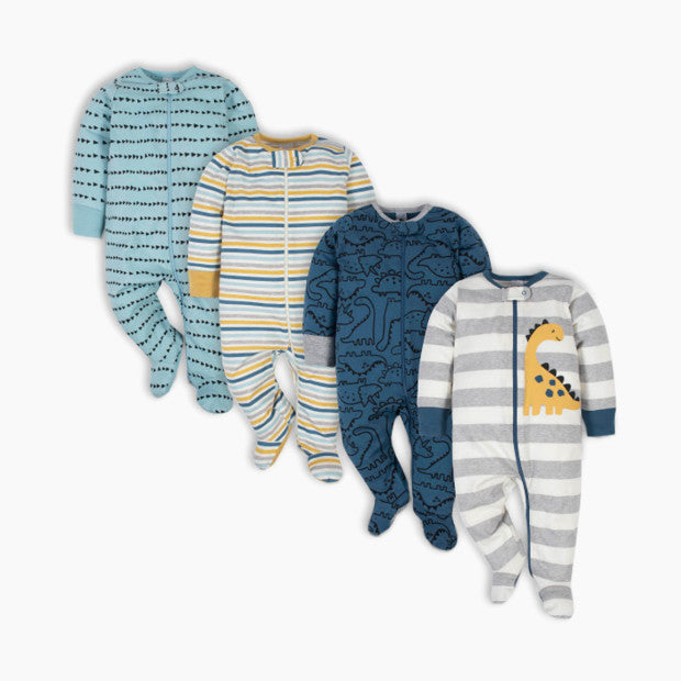 Gerber Sleep 'n Plays with Mitten Cuffs (4 Pack)