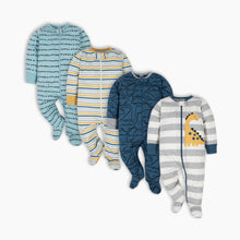 Load image into Gallery viewer, Gerber Sleep 'n Plays with Mitten Cuffs (4 Pack)