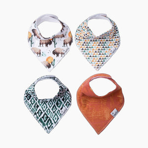 Copper Pearl Bandana Bib Set