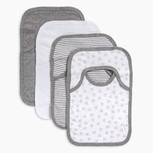 Load image into Gallery viewer, Burt's Bees Baby Organic Lap Shoulder Bib (4 Pack)