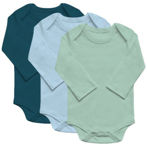 Organic Basics Long Sleeve Bodysuit 3-Pack - Boys