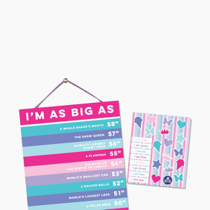 Sticky Bellies Happy Heights Growth Chart