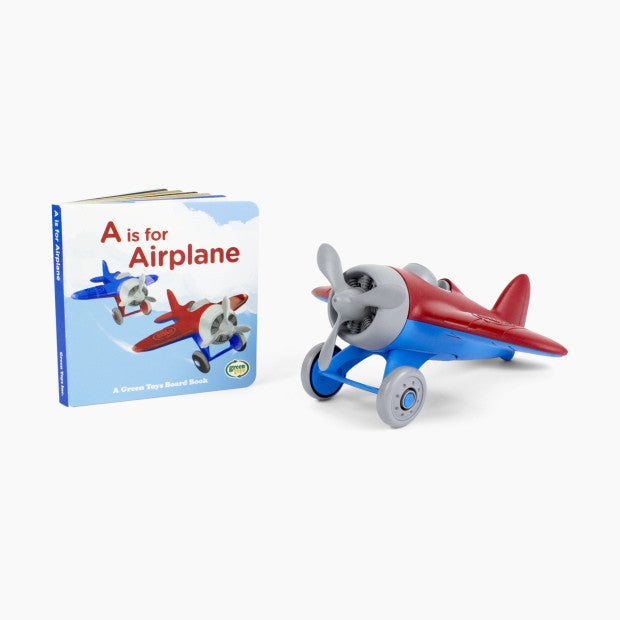 Green Toys Airplane & Board Book Set