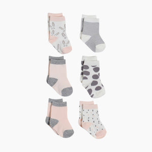 Snugabye Crew Socks (6 Pack)