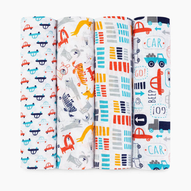 Aden + Anais Zutano Collection Swaddles (4 Pack)
