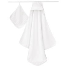 Load image into Gallery viewer, Aden + Anais Muslin Hooded Towel & Washcloth Set