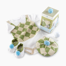 "Load image into Gallery viewer, Baby Aspen ""Sweet Tee"" 3-Piece Golf Layette Gift Set"